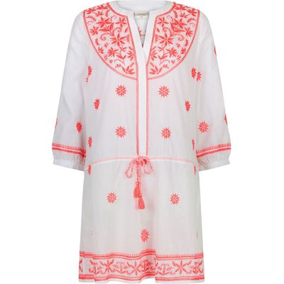 Accessorize Tilly Embroidered Tunic, Pink