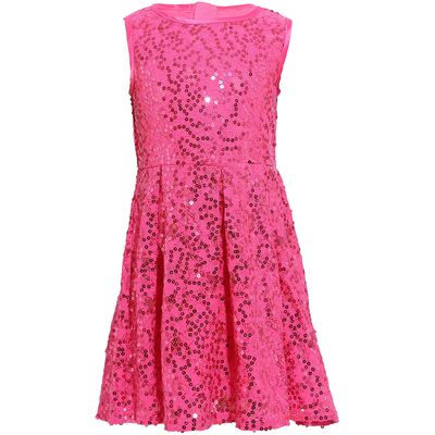 Yumi Girls Girls majestic sequin dress, Pink