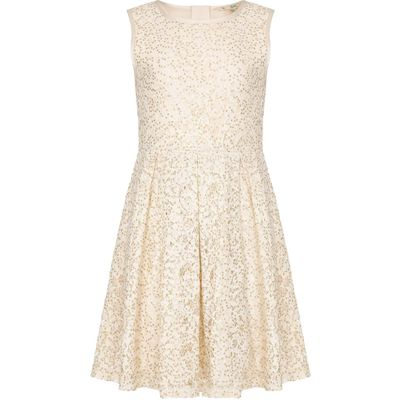 Yumi Girls Sequin Lace Party Dress, Cream