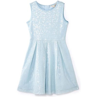 Yumi Girls Sequin Party Dress, Blue