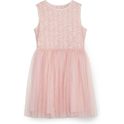 Yumi Girls Sequinned Tutu Dress, Pink