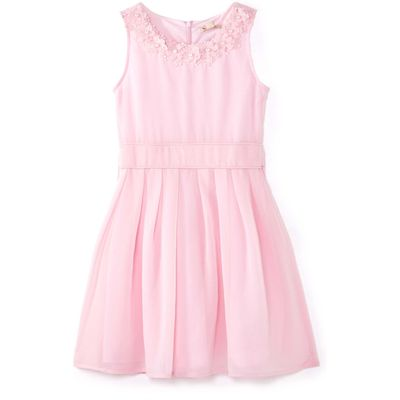 Yumi Girls Embellished Flower Party Dress, Pink