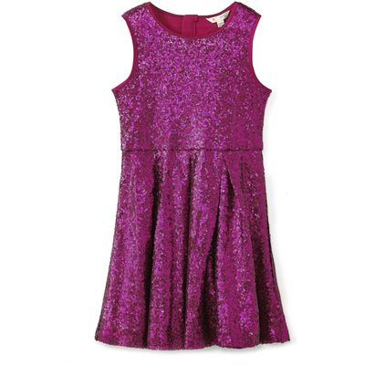 Yumi Girls Embellished Sequin Dress, Pink