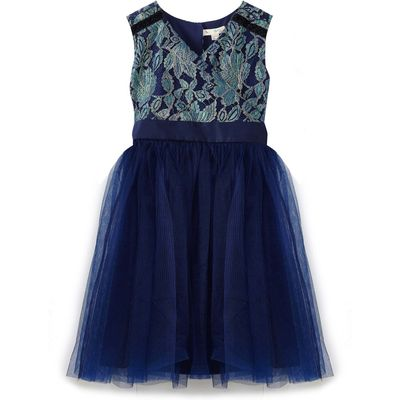 Yumi Girls Lace Prom Dress, Blue