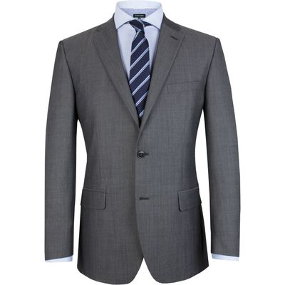 Men's Pierre Cardin Tonic Plain Notch Collar Classic Fit Jacket, Grey