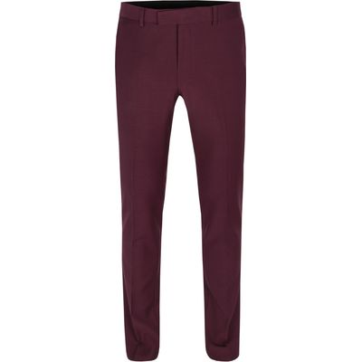 Men's Limehaus Twill formal suit trousers, Mulberry