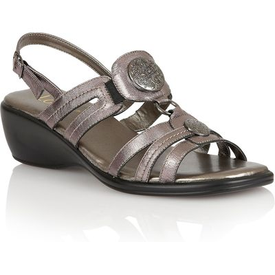 Lotus Berty open toe sandals, Pewter