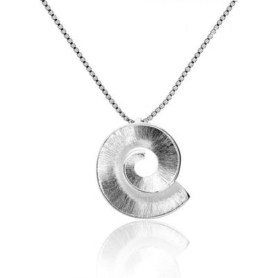 Azendi Silver frosted spiral pendant, N/A