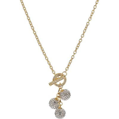 Mikey Multi 15mm ball necklace, Gold