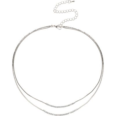 Mikey Crystal Chain Snake Chain Necklace, N/A