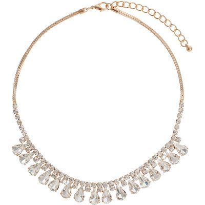Mikey Hanging Crystal Chain Necklace, N/A