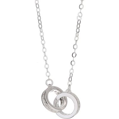 Mikey Sterling Silver925 Twin Ring Pendant, N/A