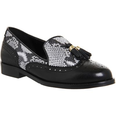 Office Ringo flat brogues, Black Leather