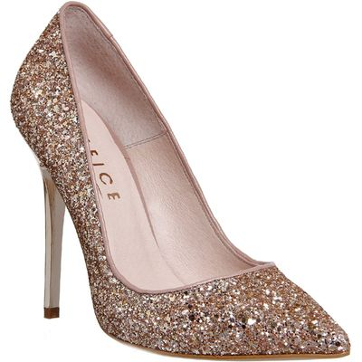 Office On to pointed court heels, Rose Gold