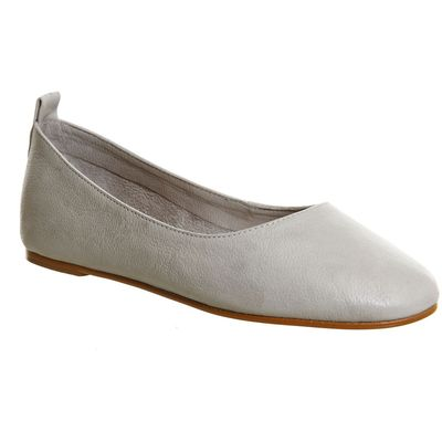 Office Primrose high vamp ballerina flats, Grey