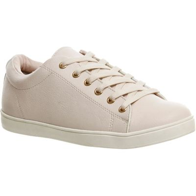 Office Penelope Lace Up Trainers, Nude