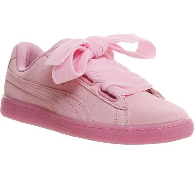 5053129907199   Puma Suede heart trainers  Pink Store