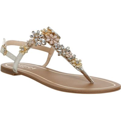 Office Serena embellished sandals, Gold