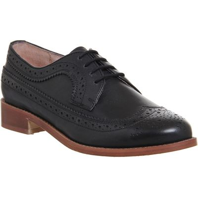 Office Freddy lace up brogues, Black Leather