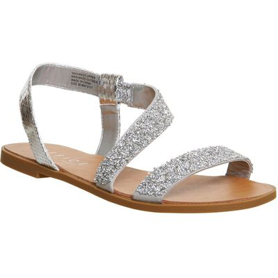Office Sparkle embellished sling back sandals, Silver