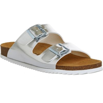 Office Hype 2 double strap sandals, Silver