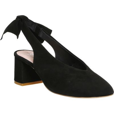 Office Magic bow back courts, Black Suede