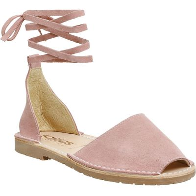 Solillas Ankle tie sandals, Pink