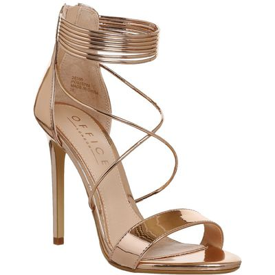 Office Hollywood Tubular Strap Sandals, Rose Gold