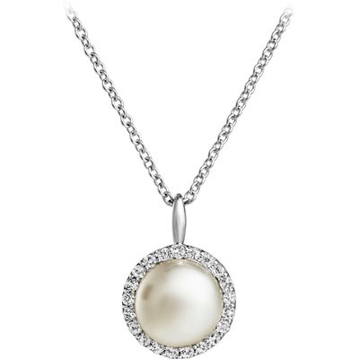 Jersey Pearl Freshwater Pearl & White Topaz Pendant, N/A