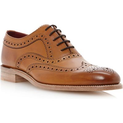Loake Fearnley wingtip brogue oxford shoes, Tan