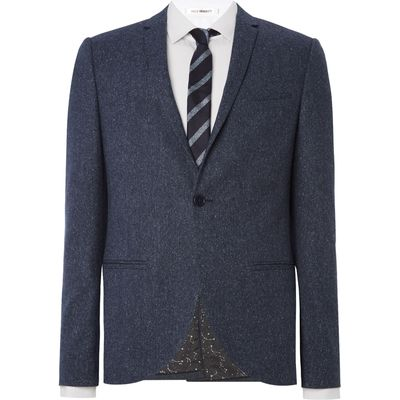 Men's Viggo and Magnus Helsinki Fleck Suit Jacket, Blue