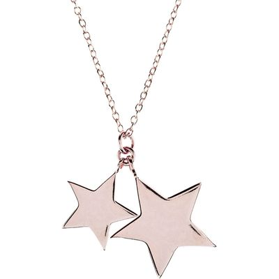 Latelita London Double Star Necklace Rose Gold, Rose Gold