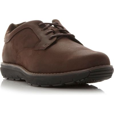 Timberland A1910 wedge sole gibson shoes, Dark Brown