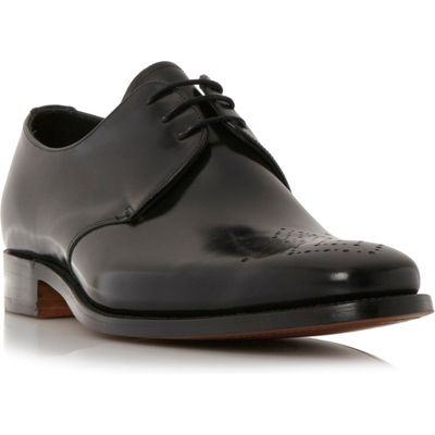 Barker Darlington punched toe gibson shoes, Black