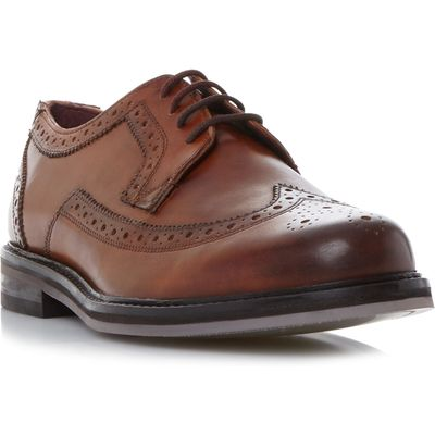 Ted Baker Ttanum 3 Gibson Brogue Shoes, Tan