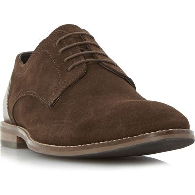 Howick Babbits mixed material gibson shoes, Brown