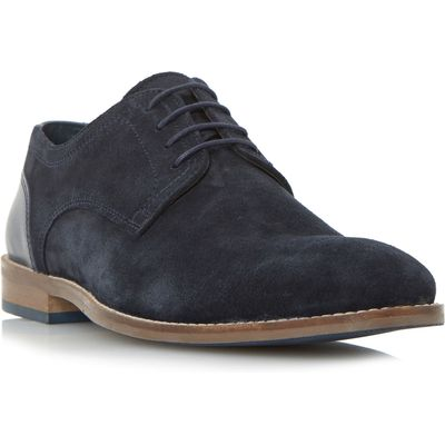 Howick Babbits mixed material gibson shoes, Blue