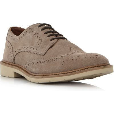 Tommy Hilfiger Metro 2b white sole brogue shoes, Taupe