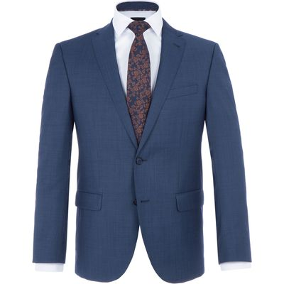 Men's Baumler Herbert Slim-Fit Wool-Rich Suit, Blue