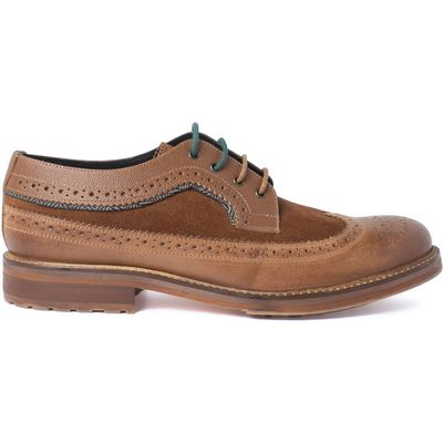 Racing Green Ministry Cognac Casual Brogue, Tan