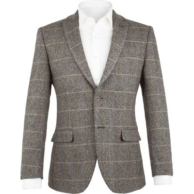 Men's Aston & Gunn Walton Grey Check Jacket, Grey