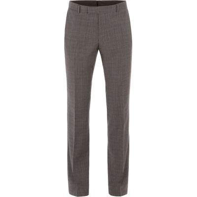 Men's Alexandre of England Gracechurch Charcoal Jaspe Suit Trouser, Charcoal