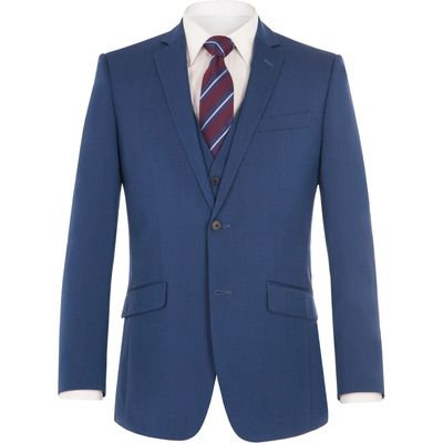 Men's Aston & Gunn Lostock Blue Suit Jacket, Blue