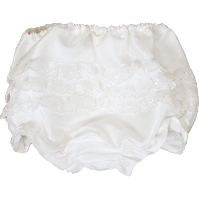 Heritage Girls Xena frilly knickers, White