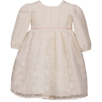 Heritage Girls Long Sleeve Special Occasion Dress, White