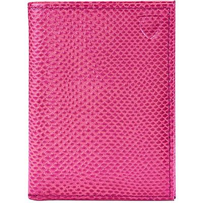 Aspinal of London Double credit card case, Raspberry