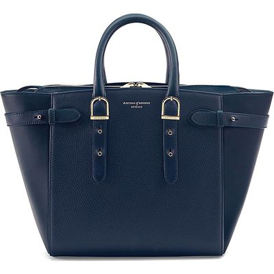 Aspinal of London Marylebone medium tote bag, Blue
