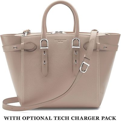 Aspinal of London Marylebone medium tote bag, Taupe