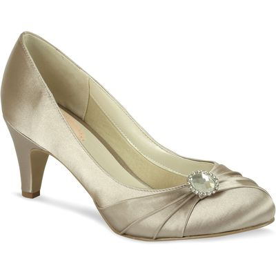 Paradox London Pink Harmony Round Toe Court Shoes, Taupe