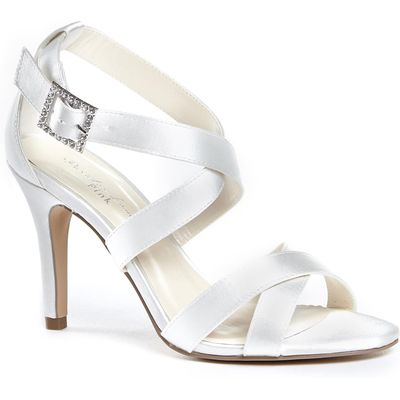 Paradox London Pink Macpherson strappy cross over sandals, White